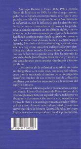 contraportada libro Cajal