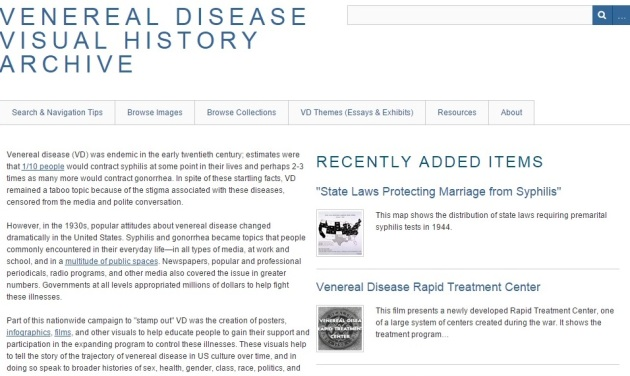 Venereal Disease Archive Home