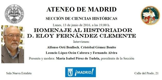 Ateneo homenaje Eloy Fernandez Clemente13 junio 2016